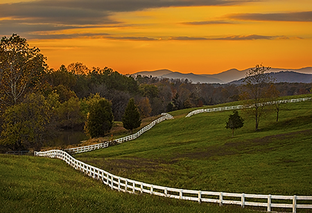 Albemarle County Farm at Dusk, VA