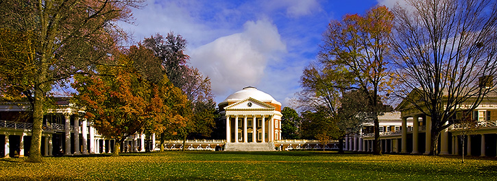 Early Spring View of the Lawn, UVA
